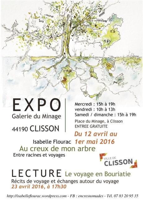 Expo Isabelle Flourac Au creux de mon arbre