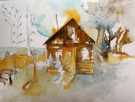 La cabane des pêcheurs, Olkhon