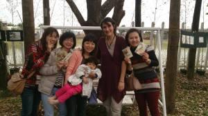 Dans le jardin de Yoyo et Lala, Chiayi, Taïwan.