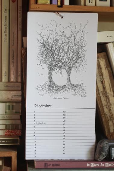 Décembre - Calendrier perpétuel des arbres