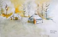 Il a neigé sur la yourte - Isabelle Flourac