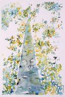 Hutan - Dessin au format 30x30cm avec Marie Louise et cadre blanc 32x42 - 150 €