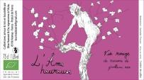 L'âme heureuse - Etiquette de vin - Isabelle Flourac